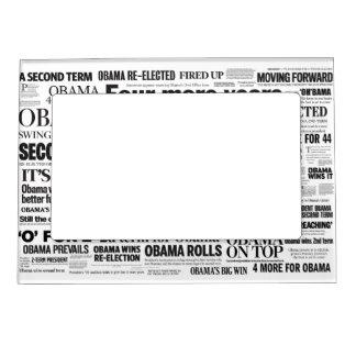Obama Wins Re-Election Headline Magnet Frame