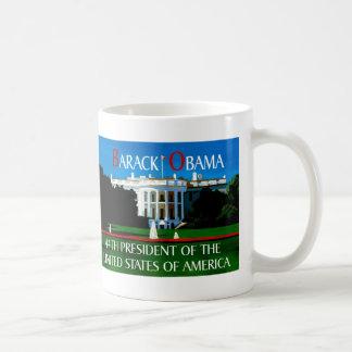 OBAMA WINS THE WHITE HOUSE COFFEE MUG