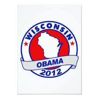 Obama - wisconsin 5x7 paper invitation card