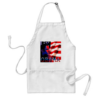 Obama with American Flag Adult Apron