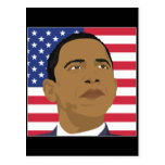 Obama with American Flag Postcards