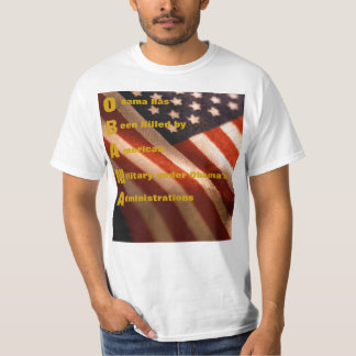 Obama with American Flag T-Shirt