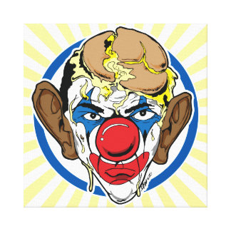 Obama With Pie on his Face Canvas Print