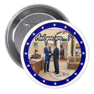 Obama with White House Guest Button