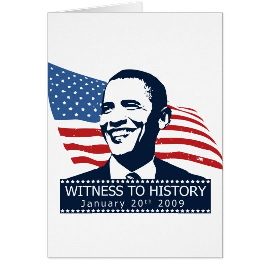Obama Witness To History Card