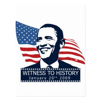 Obama Witness To History Postcard