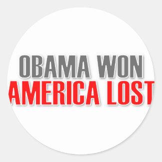 Obama Won America Lost Stickers