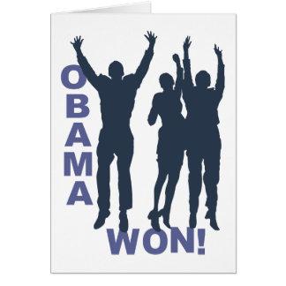 Obama Won Card