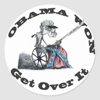 Obama Won Classic Round Sticker