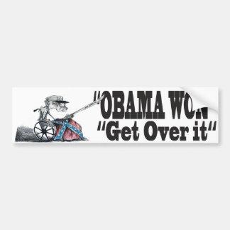 Obama Won Get Over it Car Bumper Sticker