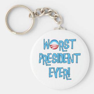 Obama Worst President Ever Keychain