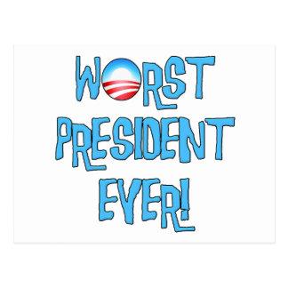 Obama Worst President Ever Postcard