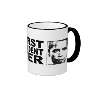 Obama Worst President Ever Ringer Coffee Mug