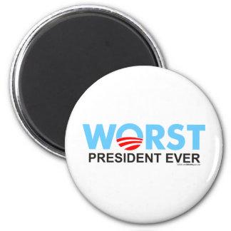 Obama WorstEver 2 Inch Round Magnet