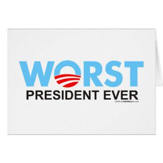 Obama WorstEver Greeting Card