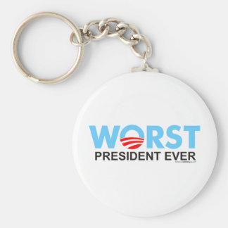 Obama WorstEver Llavero Redondo Tipo Pin