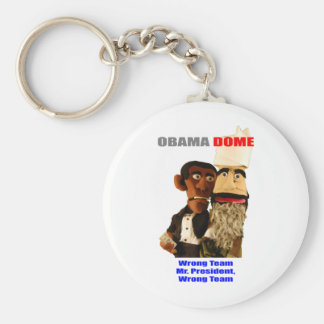 Obama - Wrong Team! Basic Round Button Keychain