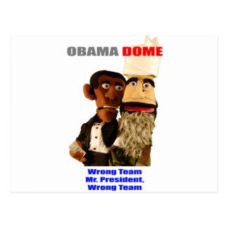 Obama - Wrong Team! Postcard