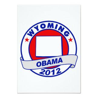 Obama - wyoming 5x7 paper invitation card