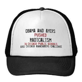 Obama y Ayers, empujados, radicalismo, en Chicago… Gorras De Camionero