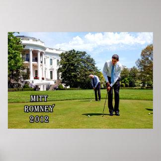 Obama y el hacer de Biden qué hacen el Mejor Romne Póster