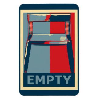 Obama y el político divertido de la silla vacía imanes de vinilo
