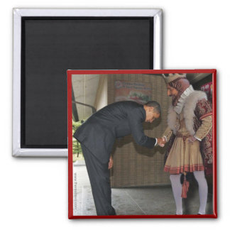 Obama y el rey imán de nevera