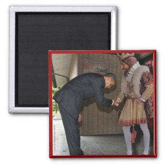 Obama y el rey imán cuadrado