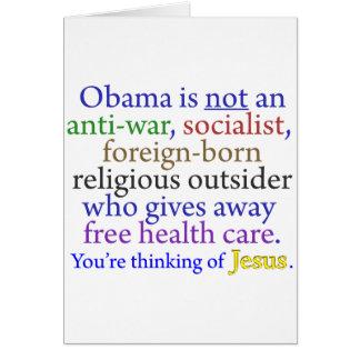 Obama y Jesús Tarjeta De Felicitación