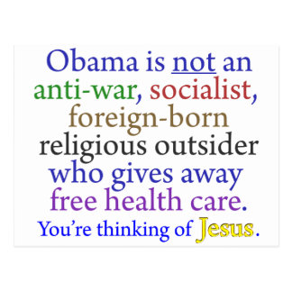 Obama y Jesús Tarjetas Postales