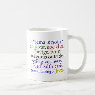 Obama y Jesús Taza Básica Blanca