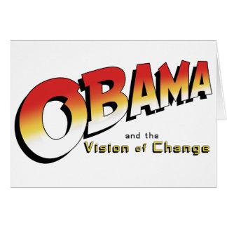Obama y la cruzada pasada en 2012 tarjeta de felicitación
