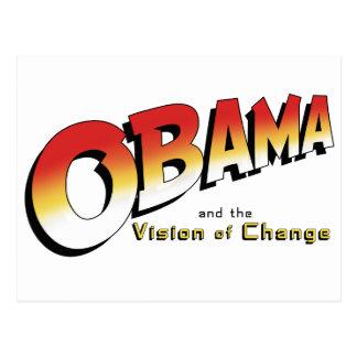 Obama y la cruzada pasada en 2012 tarjetas postales