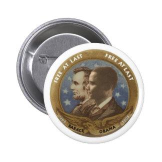 Obama y Lincoln Pin Redondo De 2 Pulgadas