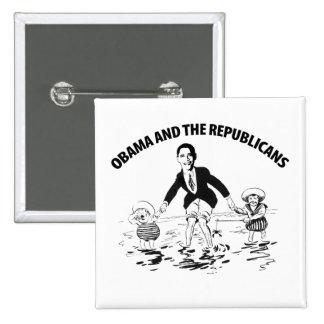 Obama y los republicanos pins