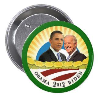 Obama y sol de Biden Pin Redondo De 3 Pulgadas
