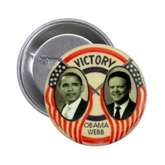 Obama y Webb Pin Redondo De 2 Pulgadas