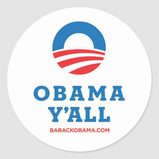 Obama Y'all Classic Round Sticker