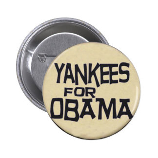 Obama Yankees Button