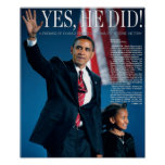 Obama: Yes He Did Poster