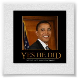 OBAMA - Yes, He Did :Poster and other items print