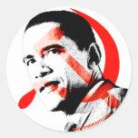 Obama - Yes He Will Classic Round Sticker