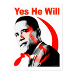 Obama - Yes He Will Postcard