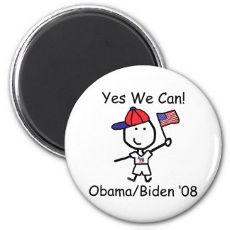 Obama - Yes We Can! 2 Inch Round Magnet