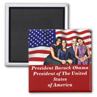 Obama,Yes We Can_ 2 Inch Square Magnet
