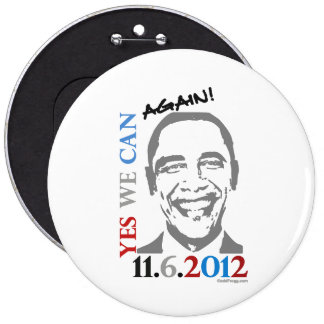OBAMA Yes We Can AGAIN Campaign 2012 Pin