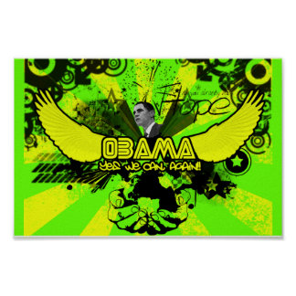 Obama (Yes We Can, Again!!) Poster