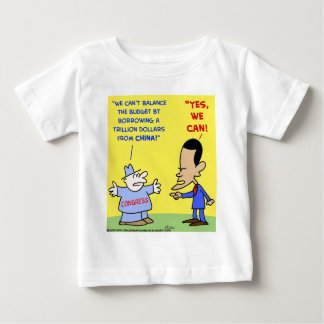 Obama yes we can balance budget baby T-Shirt