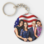 Obama,Yes We Can_ Basic Round Button Keychain