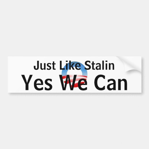 Obama Yes We Can Bumper Sticker